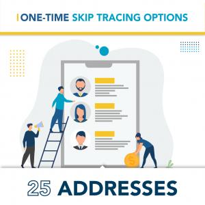 On Demand Skip Tracing Options – 25 Addresses