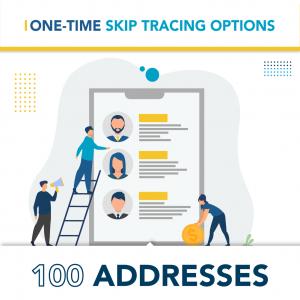 On Demand Skip Tracing Options – 100 Addresses