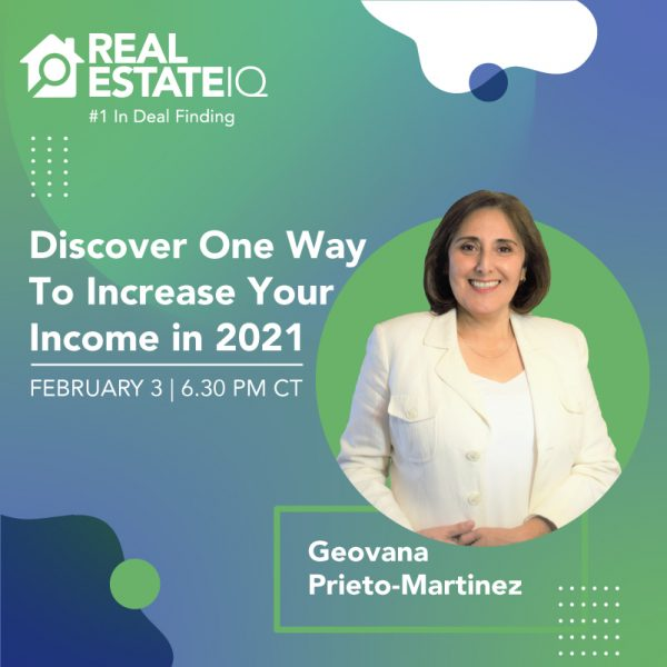 Geovana Prieto-Martinez - Discover one way to increase your income in 2021