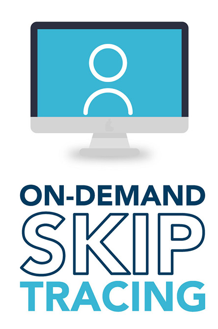 On demand skip tracing: skip tracing for real estate