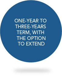 ONE-YEAR TO THREE-YEARS TERM, WITH THE OPTION TO EXTEND